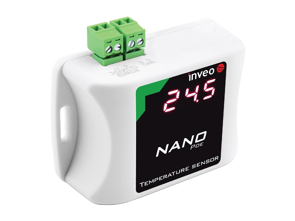 Nano Temperature Sensor IP thermometer via an Ethernet network